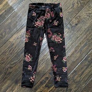 Zara Floral Velour Pants NWT